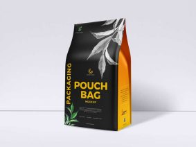 Free Pouch Bag Packaging Mockup