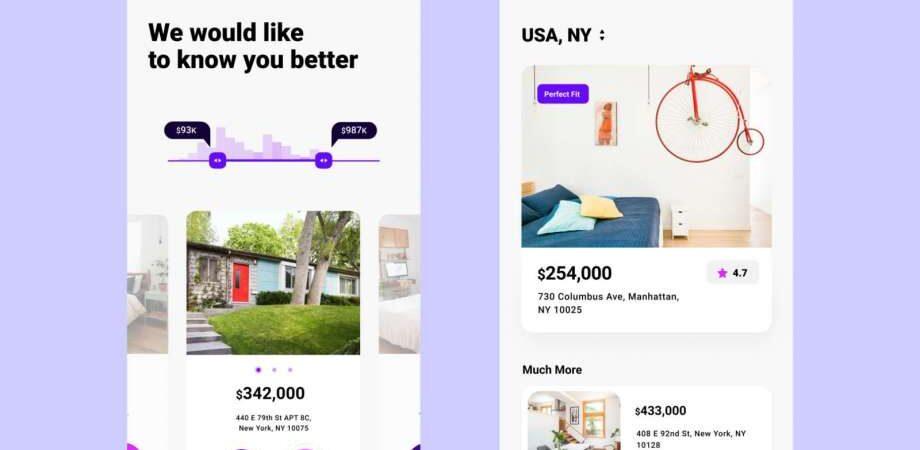 Free Real Estate App UI Design (Figma)
