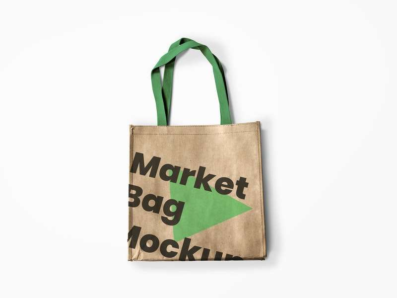 Free Reusable Market Bag Mockup