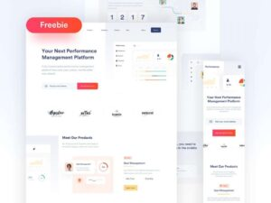 Free SaaS Product Landing Page