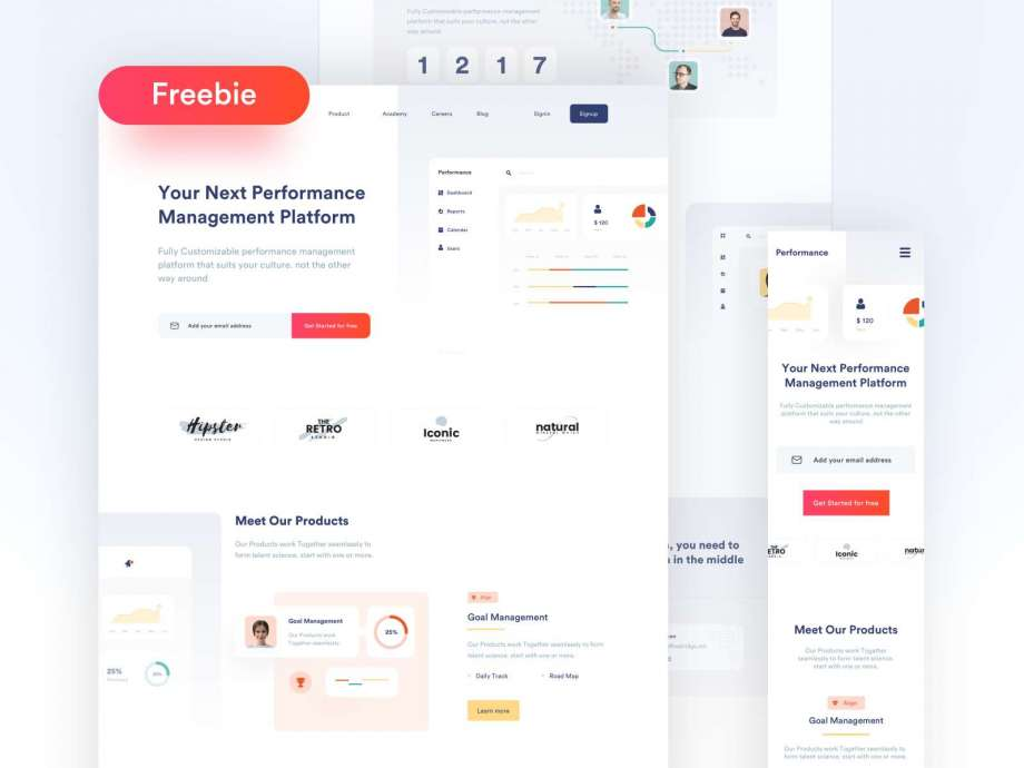 Free SaaS Product Landing Page