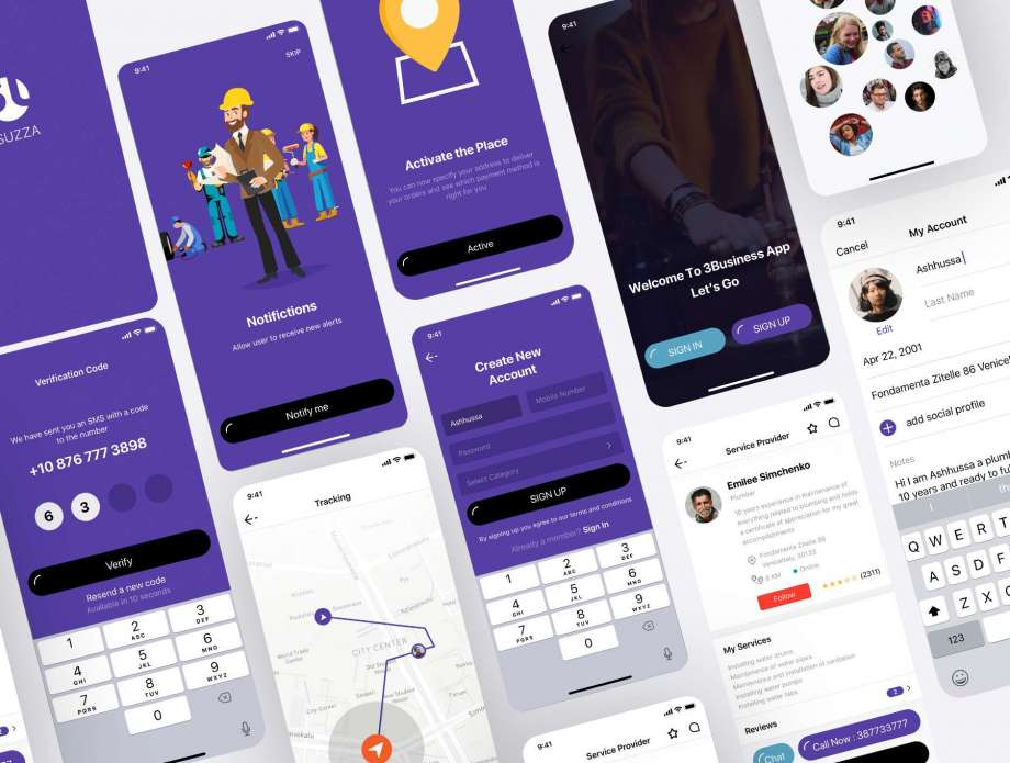 Free Sell Services APP UI Kit