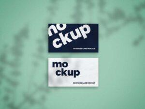 Free Shadow Overlay Business Card Mockup