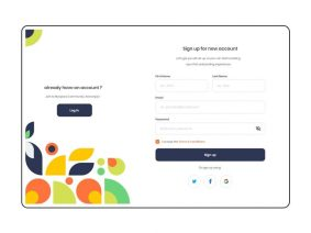 Free Sign Up / Sign in UI Kit (XD)