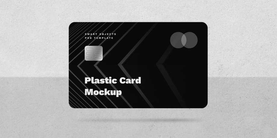 Free Simple Credit Card Mockup