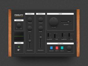 Free Skeuomorphic Audio Controller UI Kit