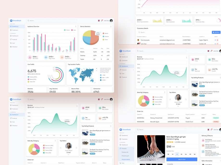 Free SmartDash e-Commerce UI Kit