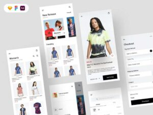 Free Sports Jersey Shop Mobile UI