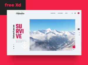 Free Survival Landing Page XD Template