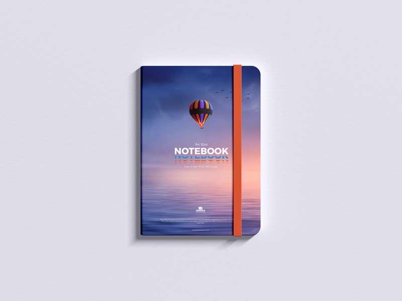 Free Top View Notepad Mockup
