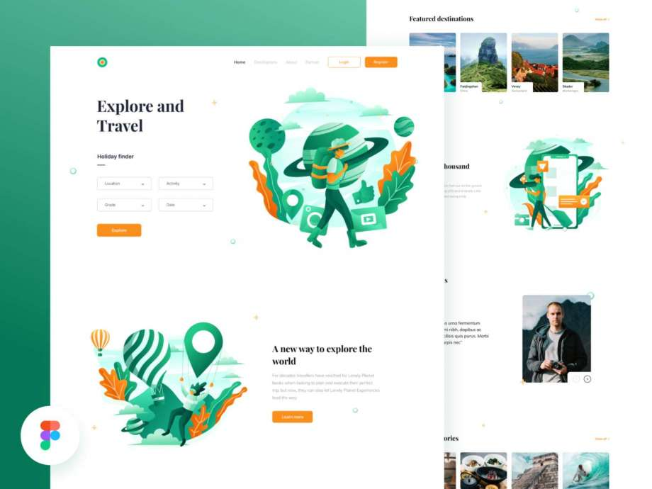 Free Tour Travel Website Template