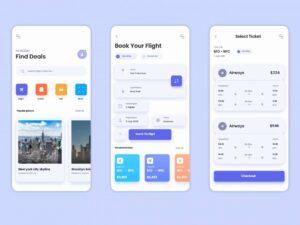 Free Travel App Screens interface Design