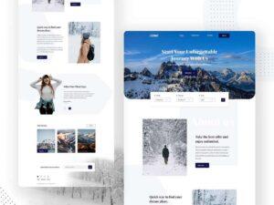 Free Travel Blogger Landing Page (PSD)