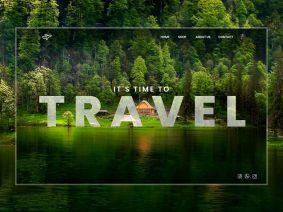 Free Travel Website Design UI (PSD)