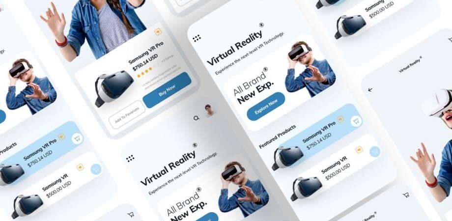 Free VR App UI Kit Concept