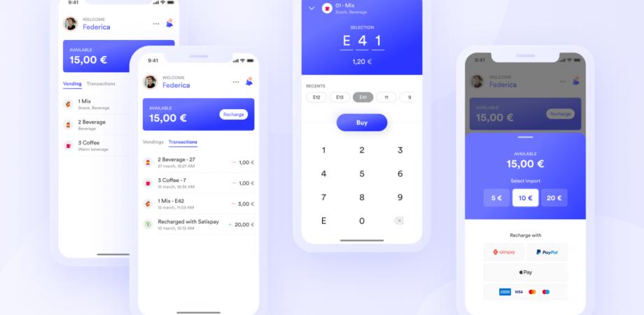 Free Vending Machine App Concept UI Kit