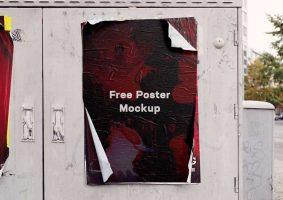 Free Weathered Poster Mockup