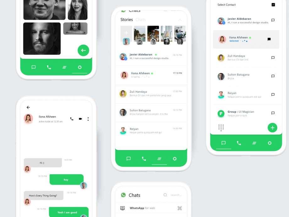 Free WhatsApp Redesign UI Kit Concept