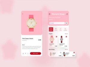 Free Women's Shops APP UI Concept (iOS)