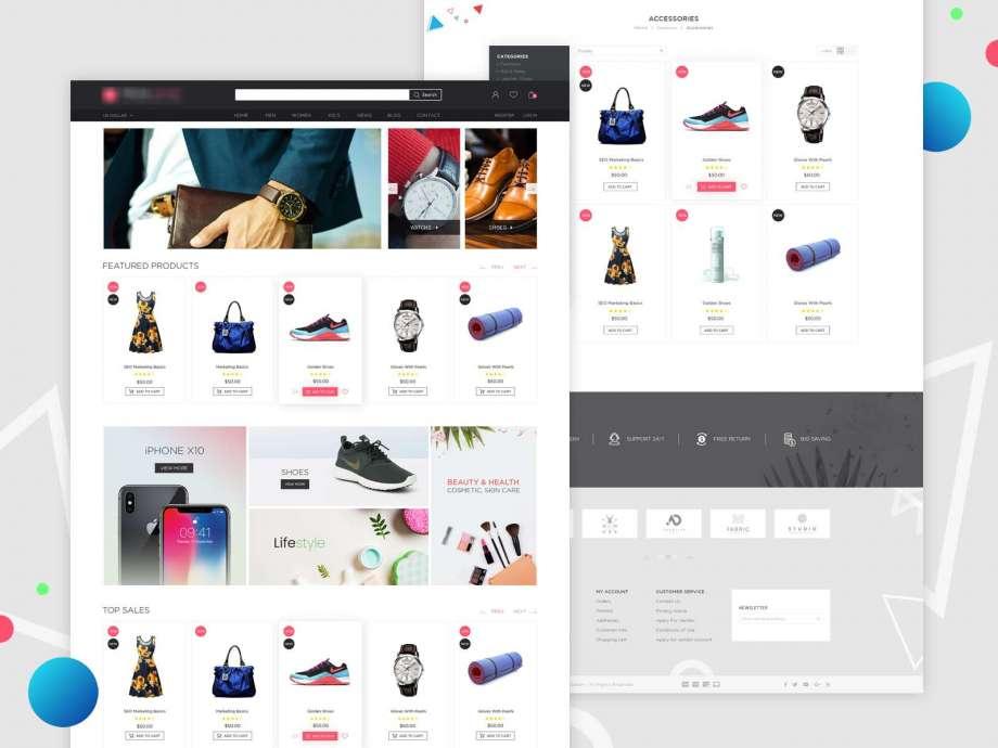Free e-Commerce Website Template (PSD)