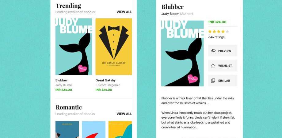 Free eBook Store UI Kit