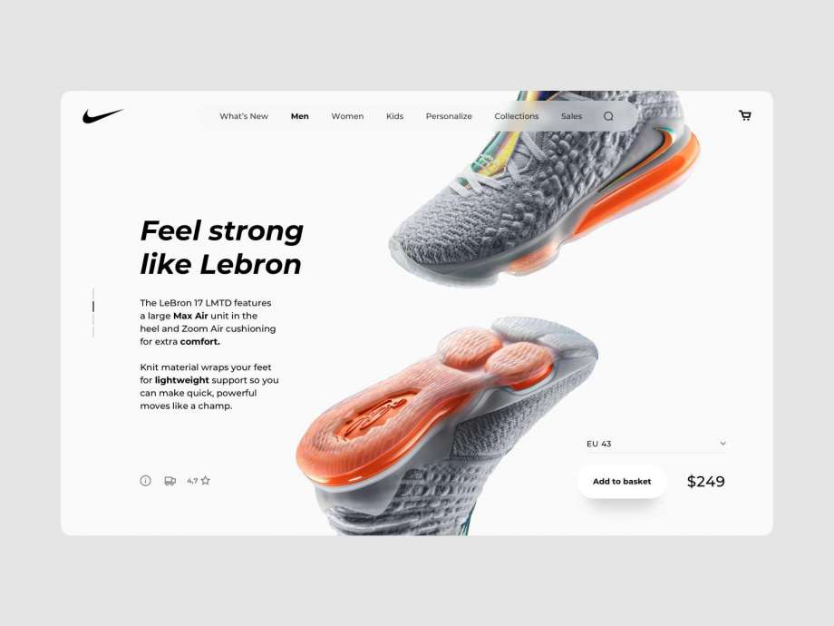 Free eCommerce Desktop Product Page