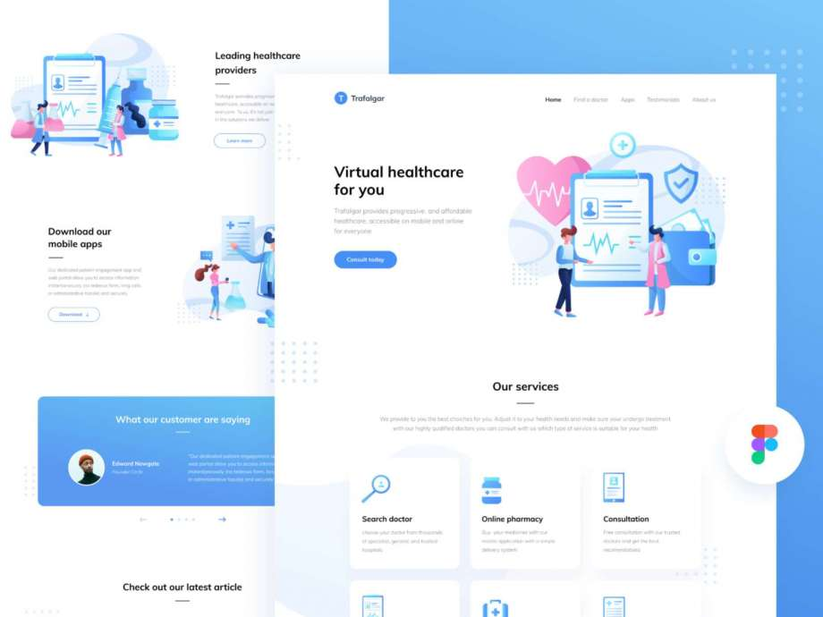Healthcare Startup Free Landing Page (Fig)