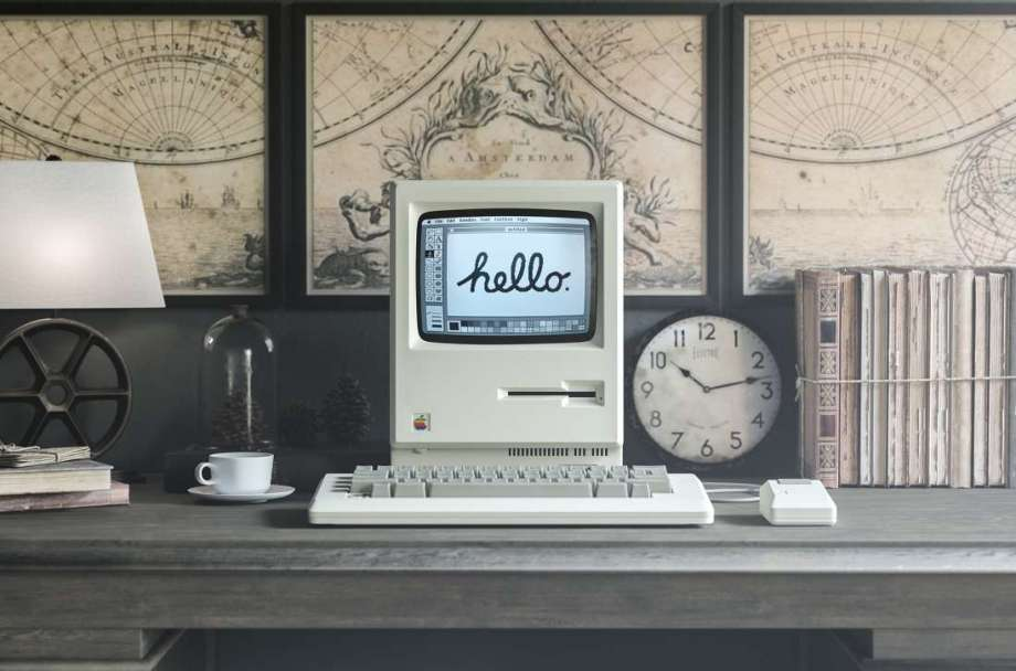 Free 1984 Apple Macintosh Mockup