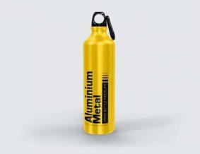 Free Aluminium Metal Drink Bottle Mockup