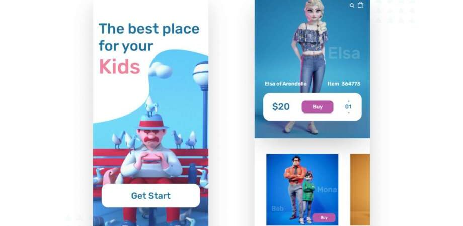 Free Baby Toys Store Apps Design