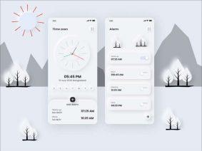 Free Clock UI Kit (XD)