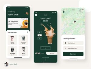 Free Coffee Shop App Screens UI Kit