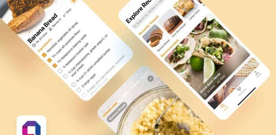 Free Cooking App UI Kit Concept