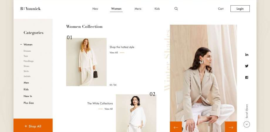 Free Fashion E-Shop Website Template