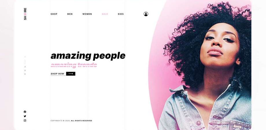 Free Fashion Hero Section Template