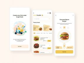 Free Food Delivery App UI Kit Concept