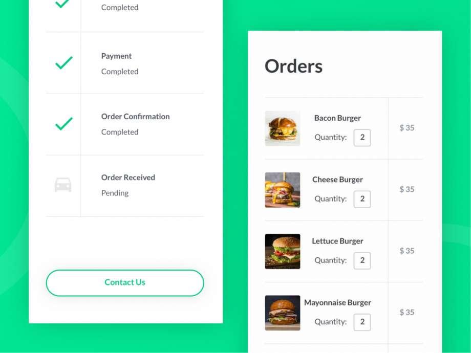 Free Food Ordering App UI Kit