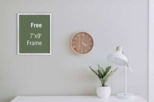 Free Frame in Wall Mockup