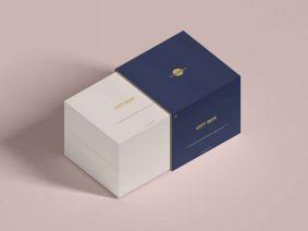 Free Gift Box Mockup (PSD)