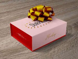 Free Gift Packaging Box Mockup
