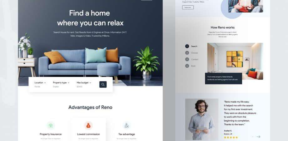 Free Interior House Design Landing Page