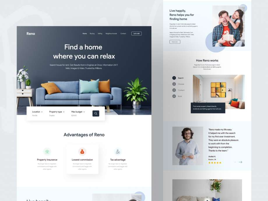 Free Interior House Design Landing Page