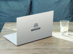 Free Laptop Back Cover Mockup