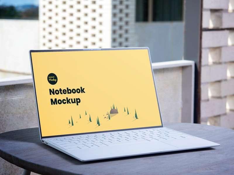 Free Laptop Notebook Mockup