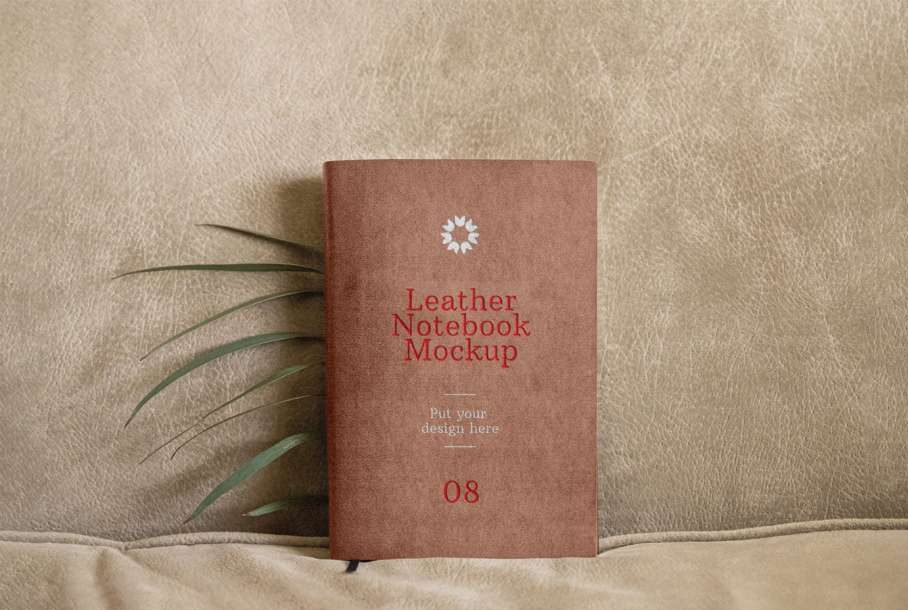 Free Leather Notebook Mockup
