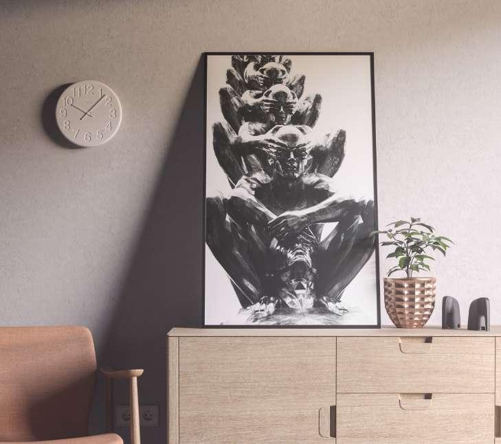 Free Modern Poster Frame Mockup