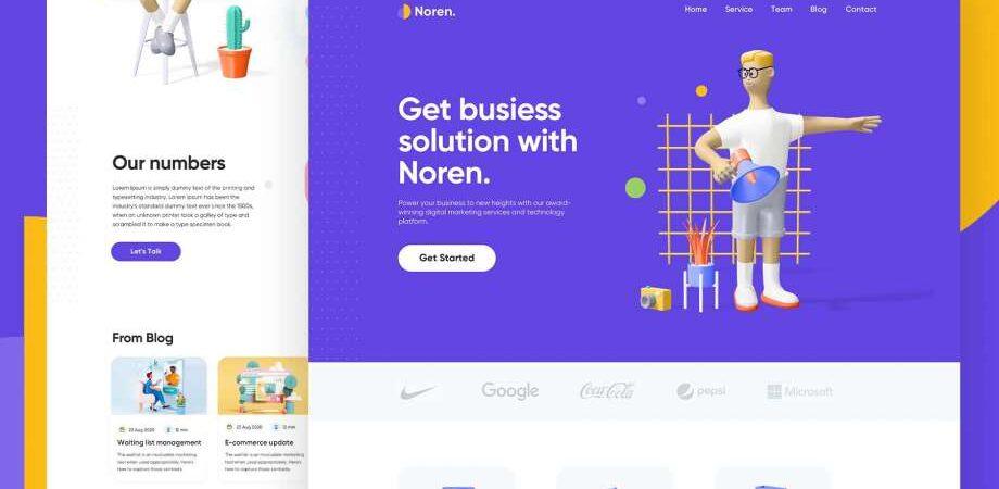 Free Noren Landing Page Design