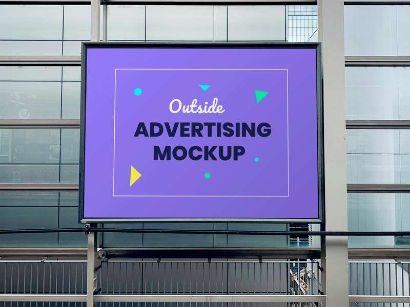 Free Outdoor Advertising Panel Mockup