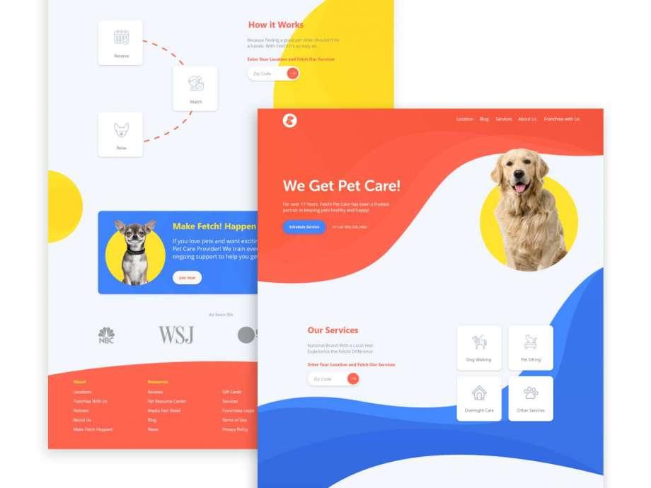 Free Pet Care Landing Page