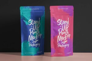 Free Pouch Packaging Mockup (PSD)